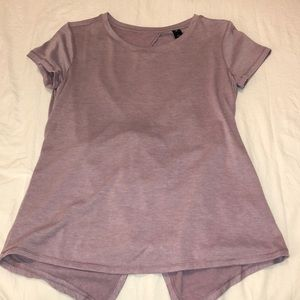 Yoga top with open back!
